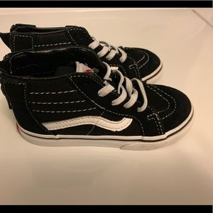 Toddler Boys Size 9 Vans Black High Tops